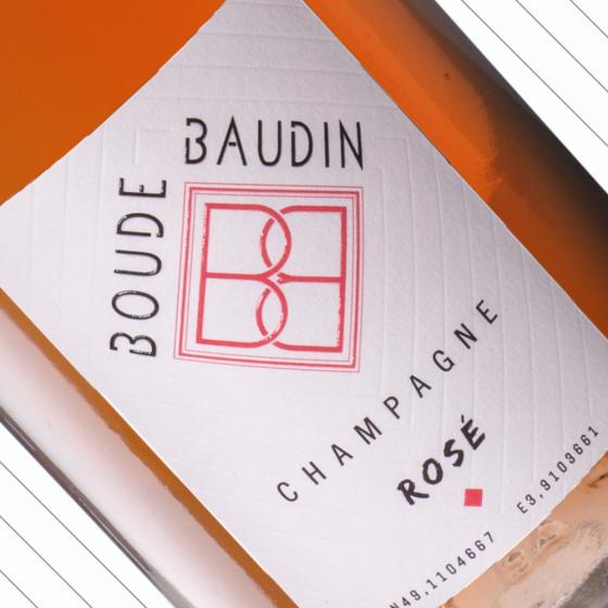 Rosé d'assemblage, champagne de vigneron Champagne Boude Baudin