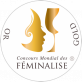 Médaille gold Champagne Boude Baudin Féminalise
